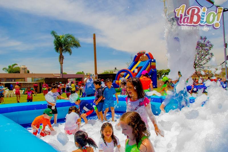 Fiesta de Espuma | Cañón de Espuma | Alabio Fiestas Infantiles Puebla