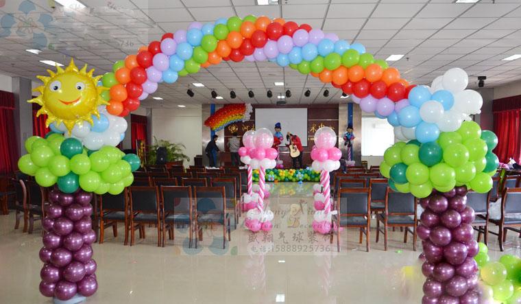 Decoraci n con globos para fiestas infantiles alabio - Decoraciones en color plata ...