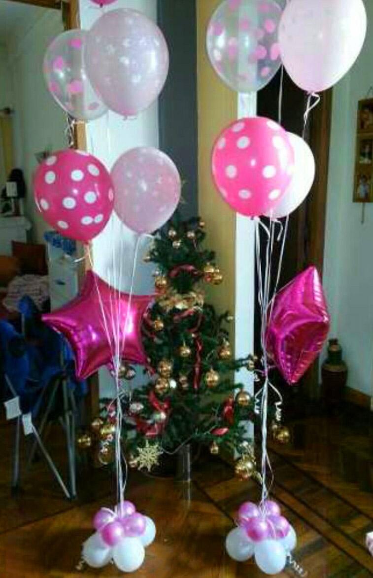 Decoraci n de globos con helio alab o todo para fiestas for Decoracion de globos