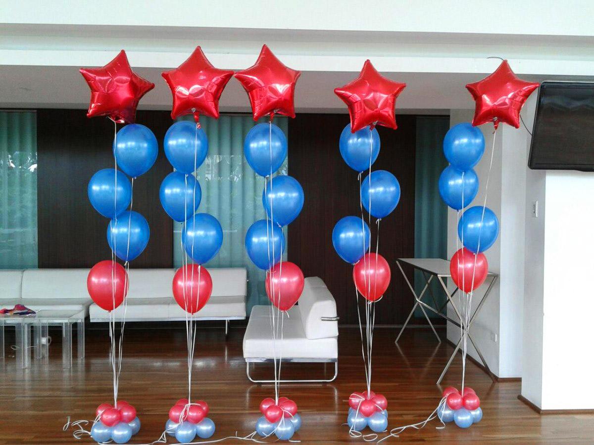 Decoraci n de globos con helio alab o todo para fiestas - Decoracion para foto ...