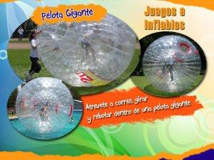 Renta de inflables Puebla Pelota gigante
