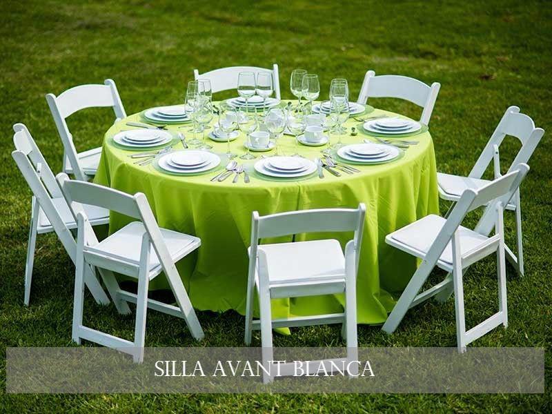 Paquete de mobiliario para fiestas y eventos renta de for Mesas redondas plegables para eventos